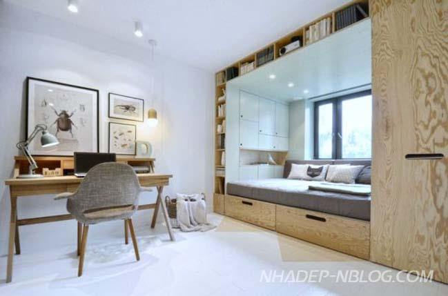 Giải pháp hoàn hảo cho phòng ngủ nhỏ 14m2