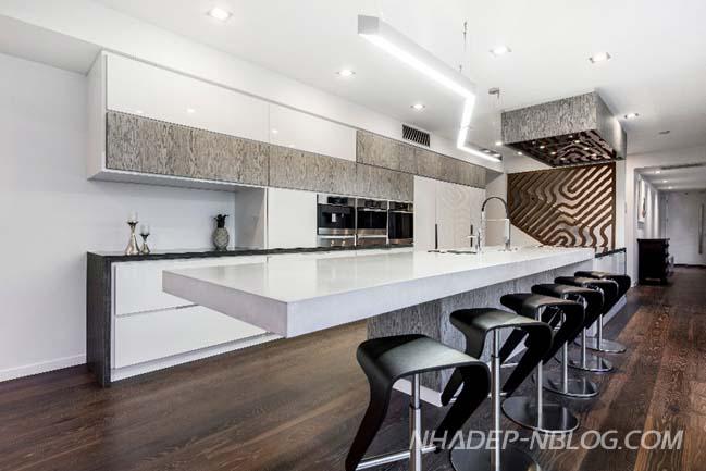 Nhà bếp đẹp với thiết kế đương đại cho không gian hẹp