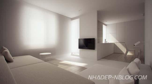 BST mẫu căn hộ chung cư với thiết kế siêu tối giản