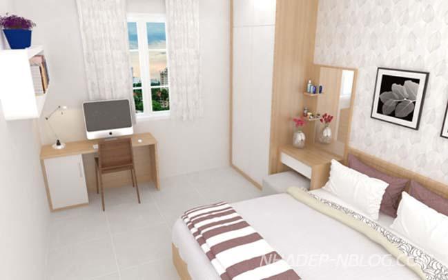 Làm mới căn hộ 3 phòng ngủ với nội thất trắng sáng