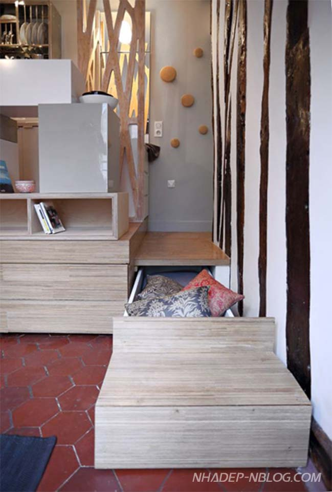 Tối ưu không gian cho căn hộ 12m2