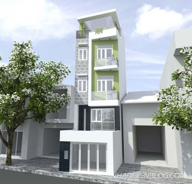 Nhà phố đẹp 4 tầng với phong cách hiện đại