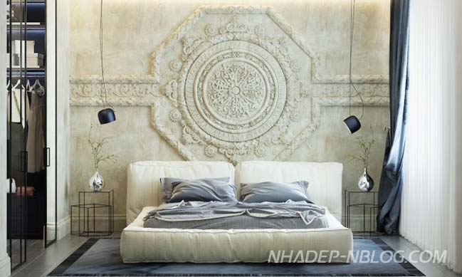 Mẫu nhà đẹp thiết kế hiện đại với họa tiết cổ điển