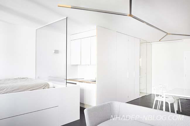 Làm mới ngôi nhà nhỏ đẹp với màu trắng tươi sáng