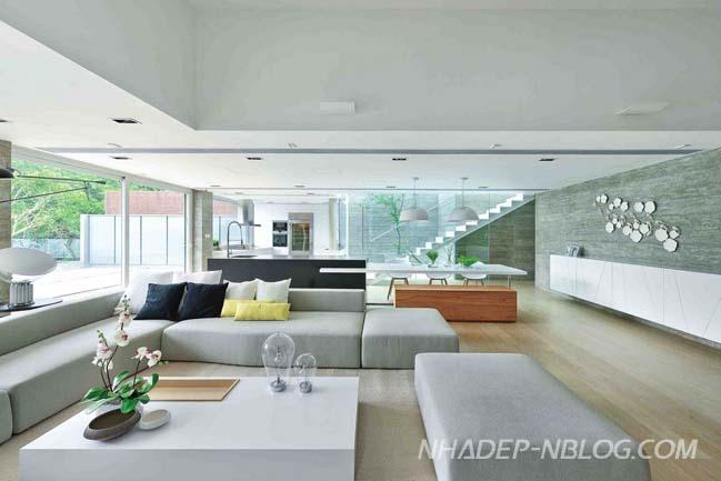 Mẫu biệt thự đẹp với thiết kế hình khối đơn giản