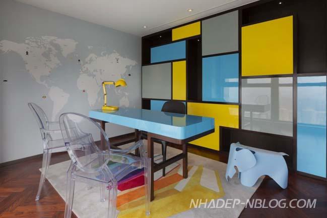 Mẫu nhà đẹp 2 tầng với thiết kế và màu sắc sinh động