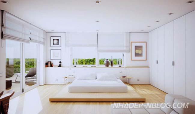 Những mẫu phòng ngủ đẹp với chiếc giường kiểu Nhật