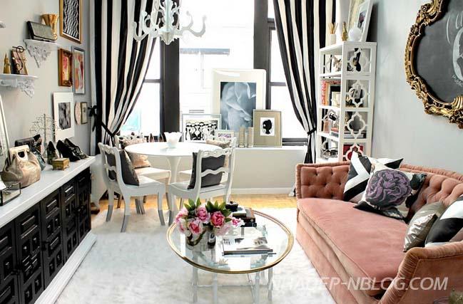 Những mẫu phòng khách đẹp trang nhã nữ tính