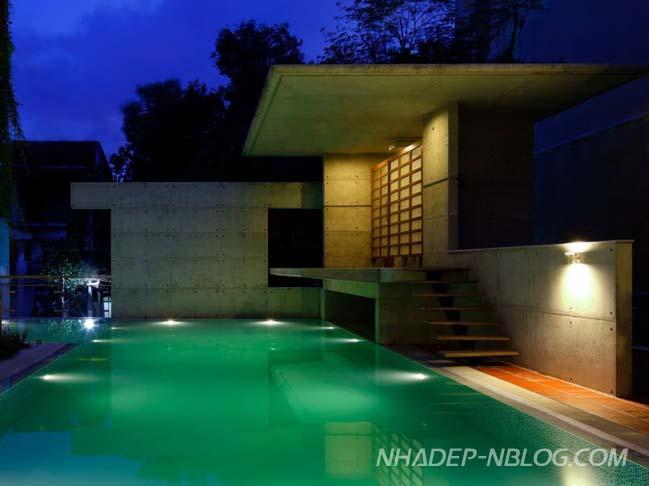 Biệt thự đẹp với thiết kế bê tông cá tính