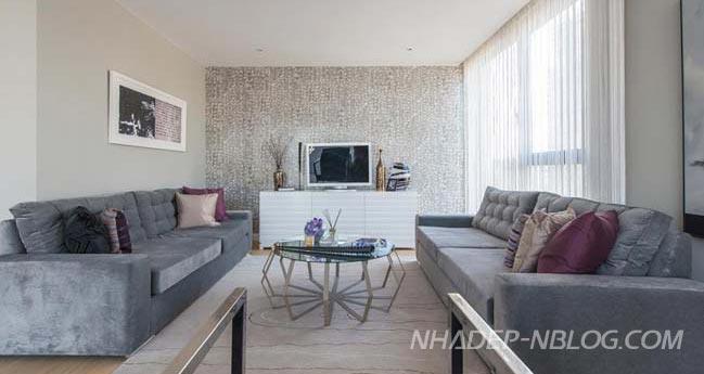 Căn hộ penthouse đẹp với tông màu trung tính