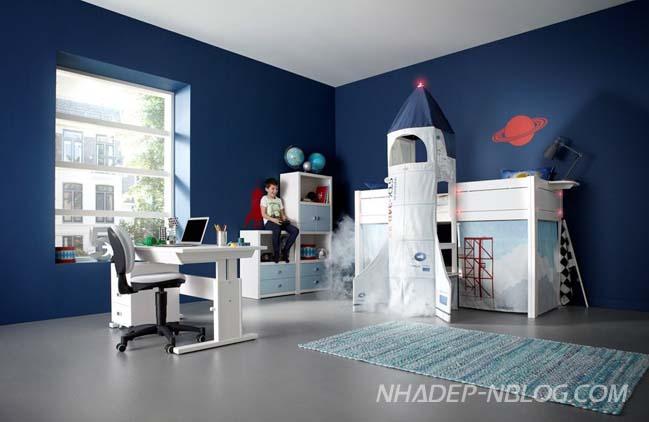 Không gian giải trí cho phòng ngủ đẹp của bé