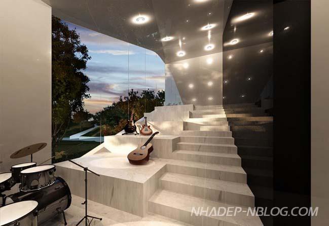 Ngôi biệt thự đẹp với thiết kế tổ kén độc đáo