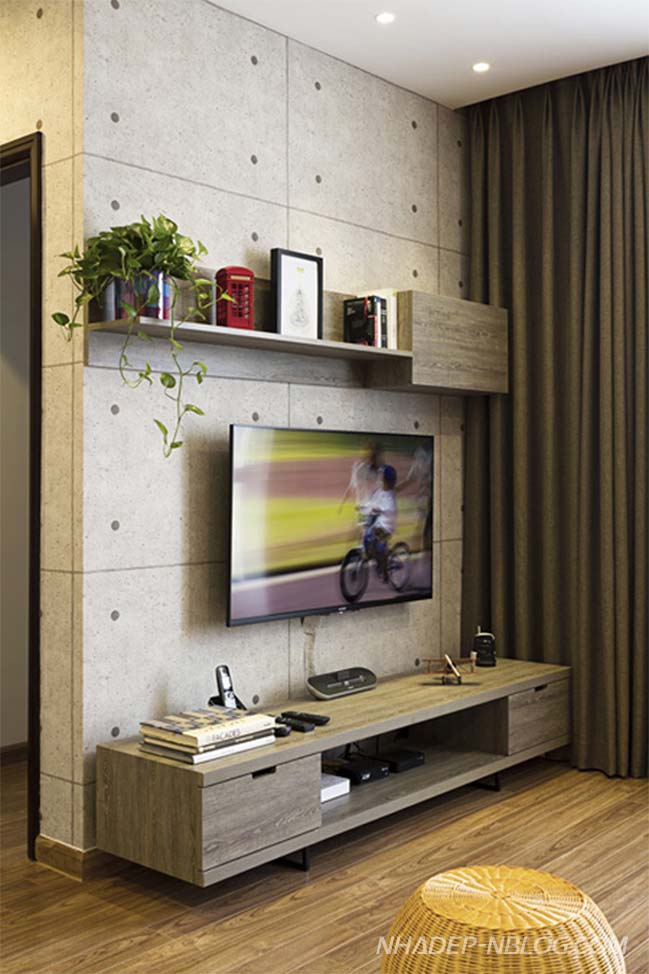 Cải tạo căn hộ chung cư với hệ tủ âm tường thông minh