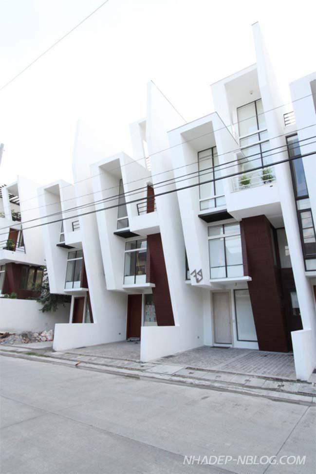 Mẫu nhà phố liền kề với kiến trúc hiện đại ấn tượng