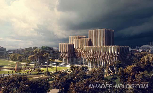 Ngắm kiến trúc gỗ độc đáo của viện nghiên cứu Campuchia