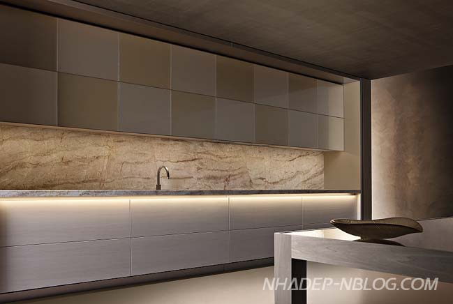 Mẫu nhà bếp đẹp với thiết kế trượt sang trọng