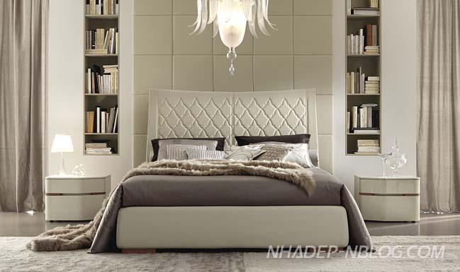 Mẫu phòng ngủ đẹp với nội thất da sang trọng