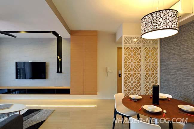 Thiết kế điển hình cho căn hộ chung cư hiện đại