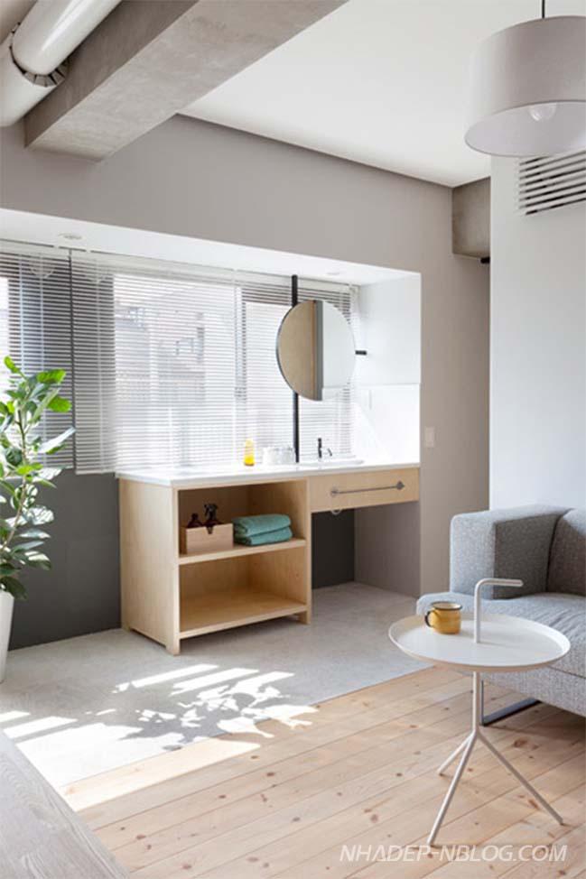 Thiết kế nhà đẹp 64m2 với 2 phòng ngủ