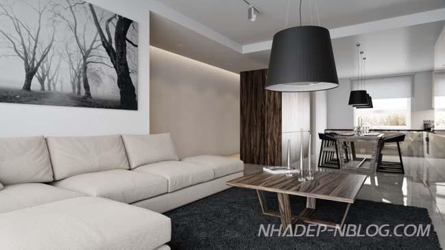 Thiết kế nội thất chung cư sang trọng với tông màu lạnh