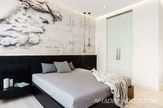 Không gian đẹp sang trọng được kết hợp từ 2 căn hộ nhỏ