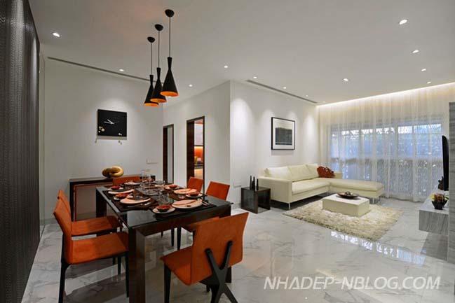 Căn hộ chung cư hiện đại ở ngoại ô thành phố