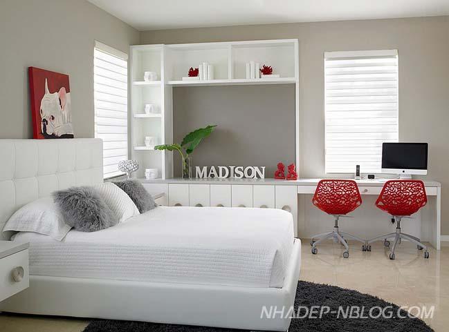 17 mẫu phòng ngủ đẹp với góc làm việc sáng tạo