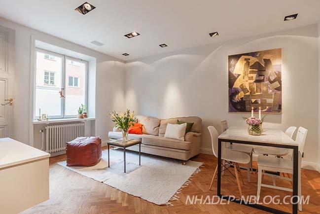 Thiết kế nội thất chung cư 34m2