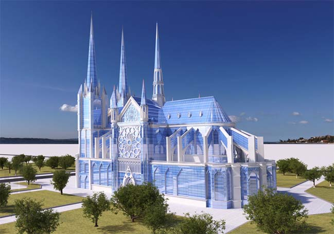 Nhà thờ với kiến trúc toàn kính độc đáo