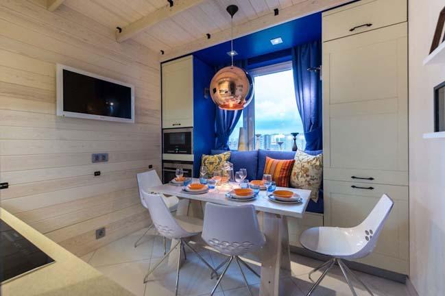 Thiết kế nhà bếp đẹp với diện tích nhỏ 9m2
