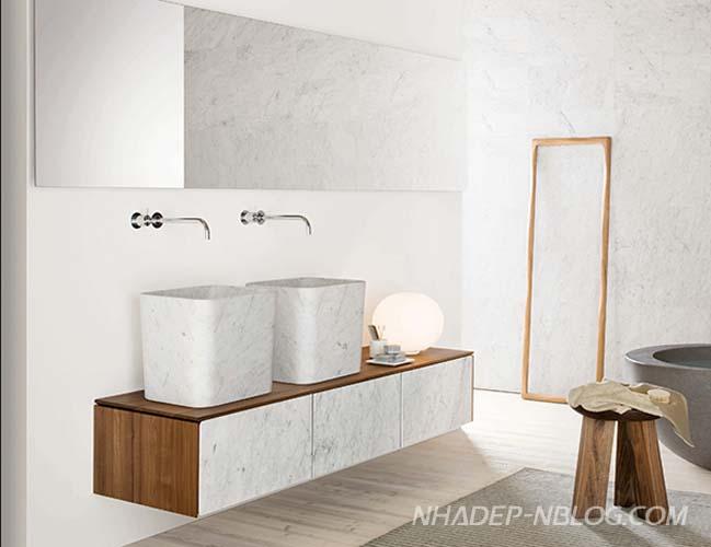 14 mẫu phòng tắm đẹp với đường nét đơn giản