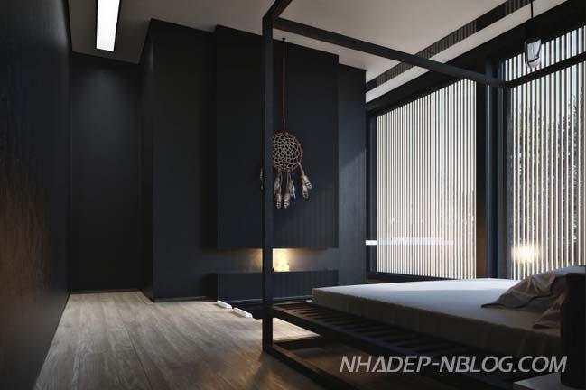 Biệt thự đẹp với tông màu đen sang trọng