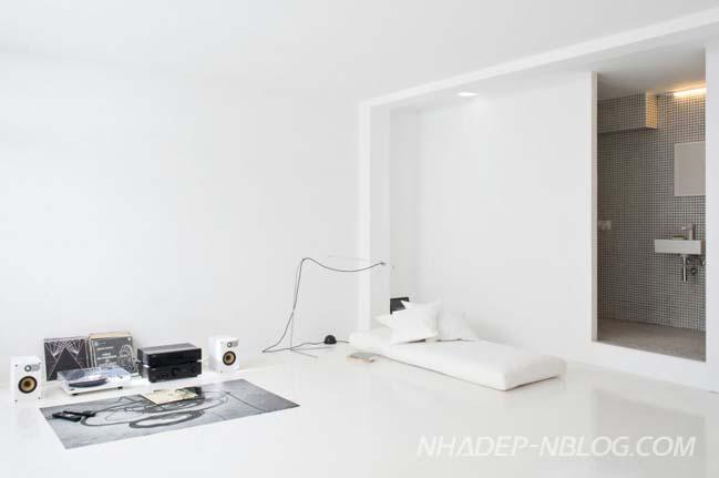 Không gian trắng xóa của ngôi nhà nhỏ đẹp