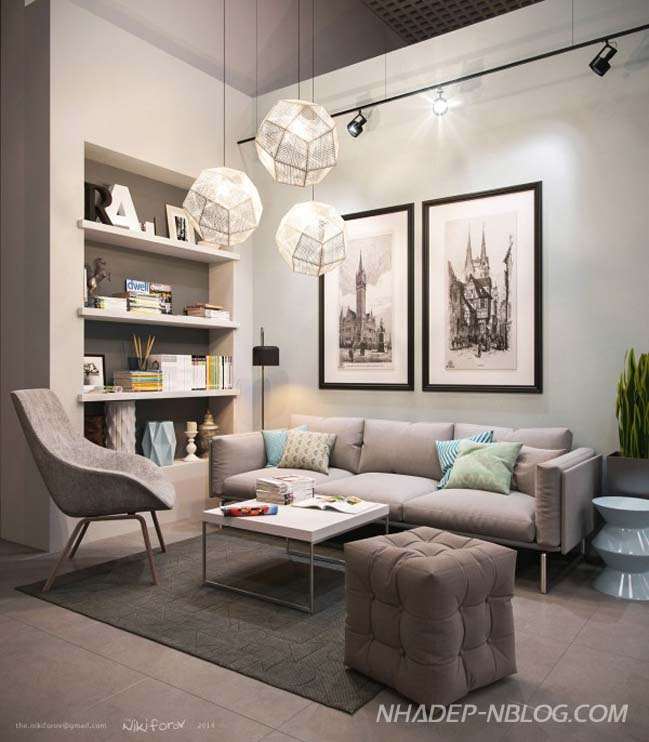 12 mẫu phòng khách đẹp với bộ ghế sofa hiện đại