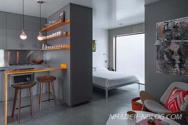 Thiết kế căn hộ chung cư nhỏ đẹp 30m2