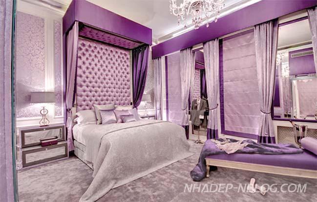 15 thiết kế phòng ngủ đẹp với tông màu tím
