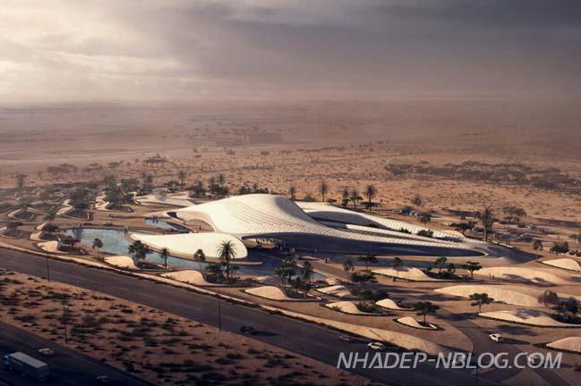 Kiến trúc ấn tượng giữa sa mạc của Zaha Hadid