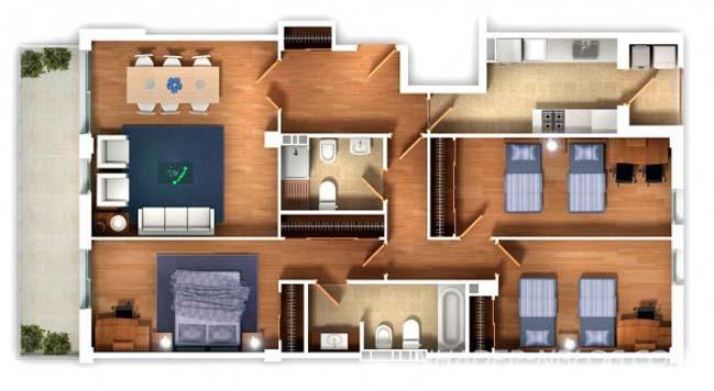 25 mẫu thiết kế nhà đẹp 3 phòng ngủ