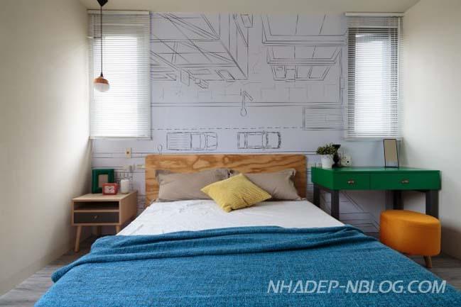 Căn hộ chung cư với những hình ảnh hoạt hình
