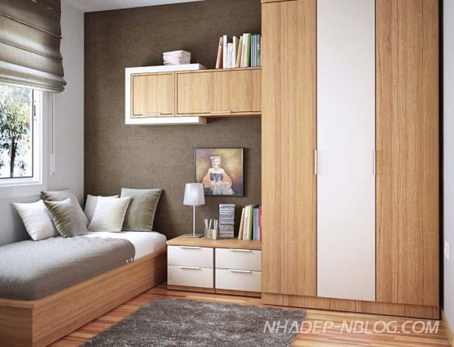 Giải pháp tiết kiệm không gian cho phòng ngủ nhỏ