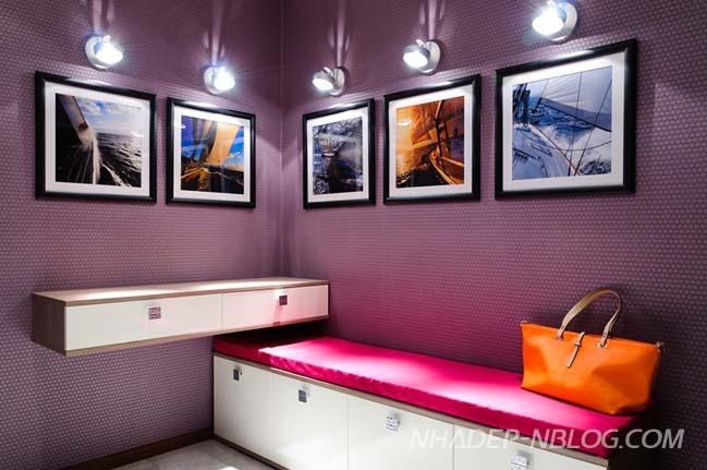 Thiết kế căn hộ chung cư với điểm nhấn màu tím