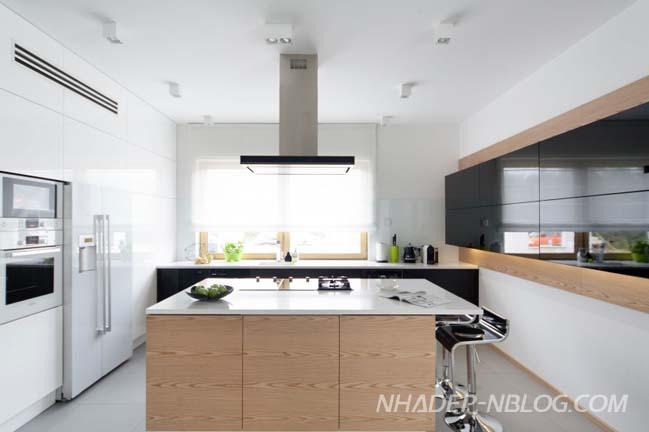 Thiết kế nhà phố đẹp với nội thất trắng sáng