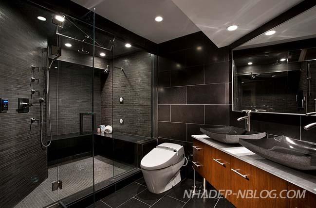 15 mẫu phòng tắm đẹp với màu đen huyền bí