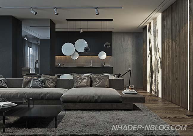 Căn hộ chung cư đẹp với tông màu lạnh cá tính