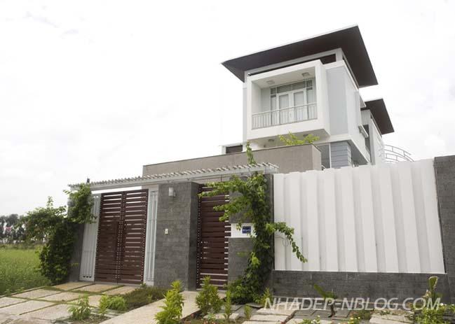 Ngôi biệt thự đẹp với thiết kế hiện đại tại Bình Dương