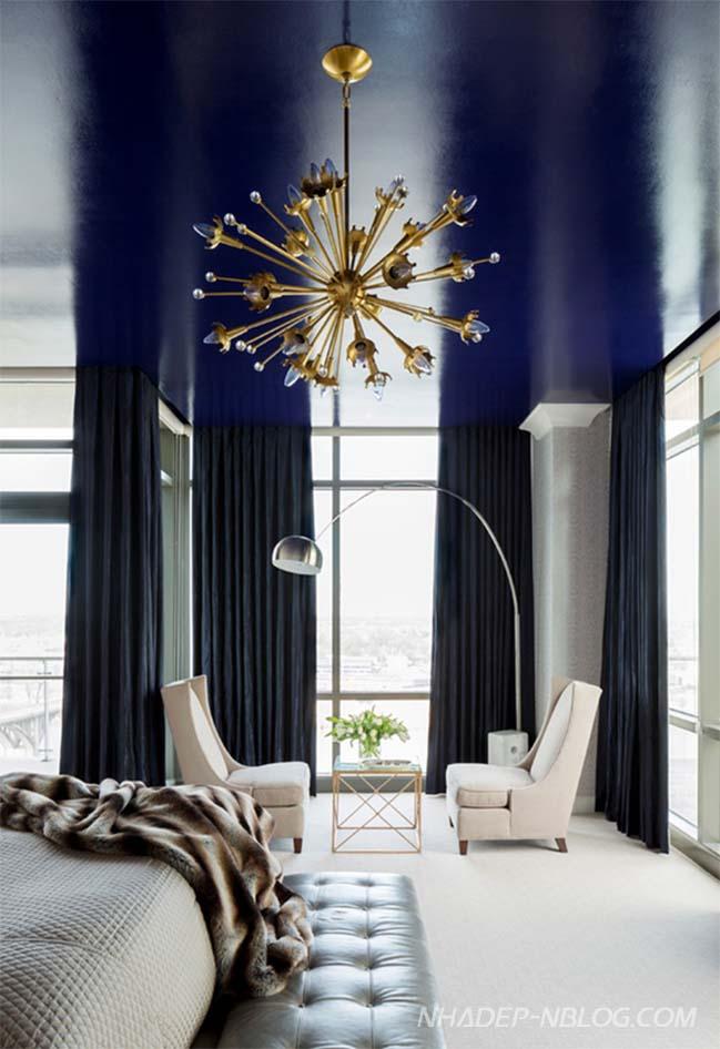 Căn hộ penthouse sang trọng với màu sắc nổi bật