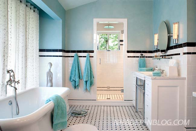 Những mẫu phòng tắm đẹp với điểm nhấn đầy màu sắc