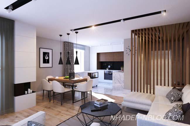 Nội thất căn hộ chung cư đẹp 76m2
