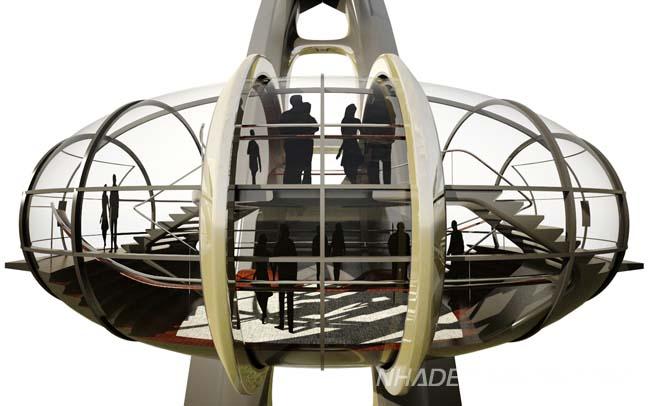 Kiến trúc độc đáo của bánh xe quan sát tại Nhật Bản