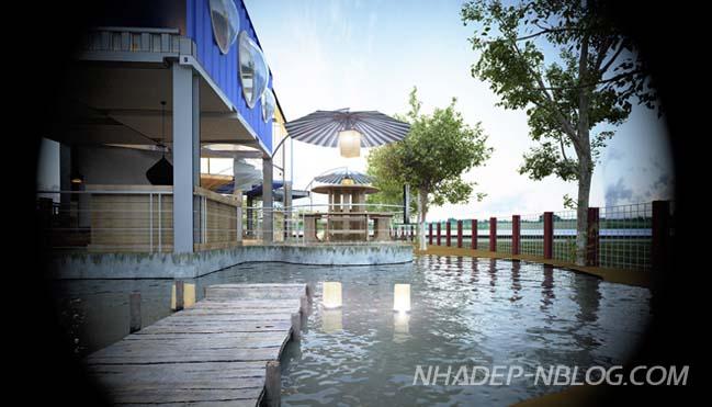 Kiến trúc độc của quán cà phê từ container tại Hạ Long
